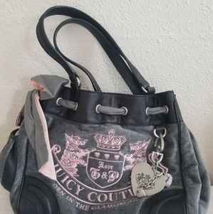 Hold- Like new Juicy Couture Pink velour gray da…